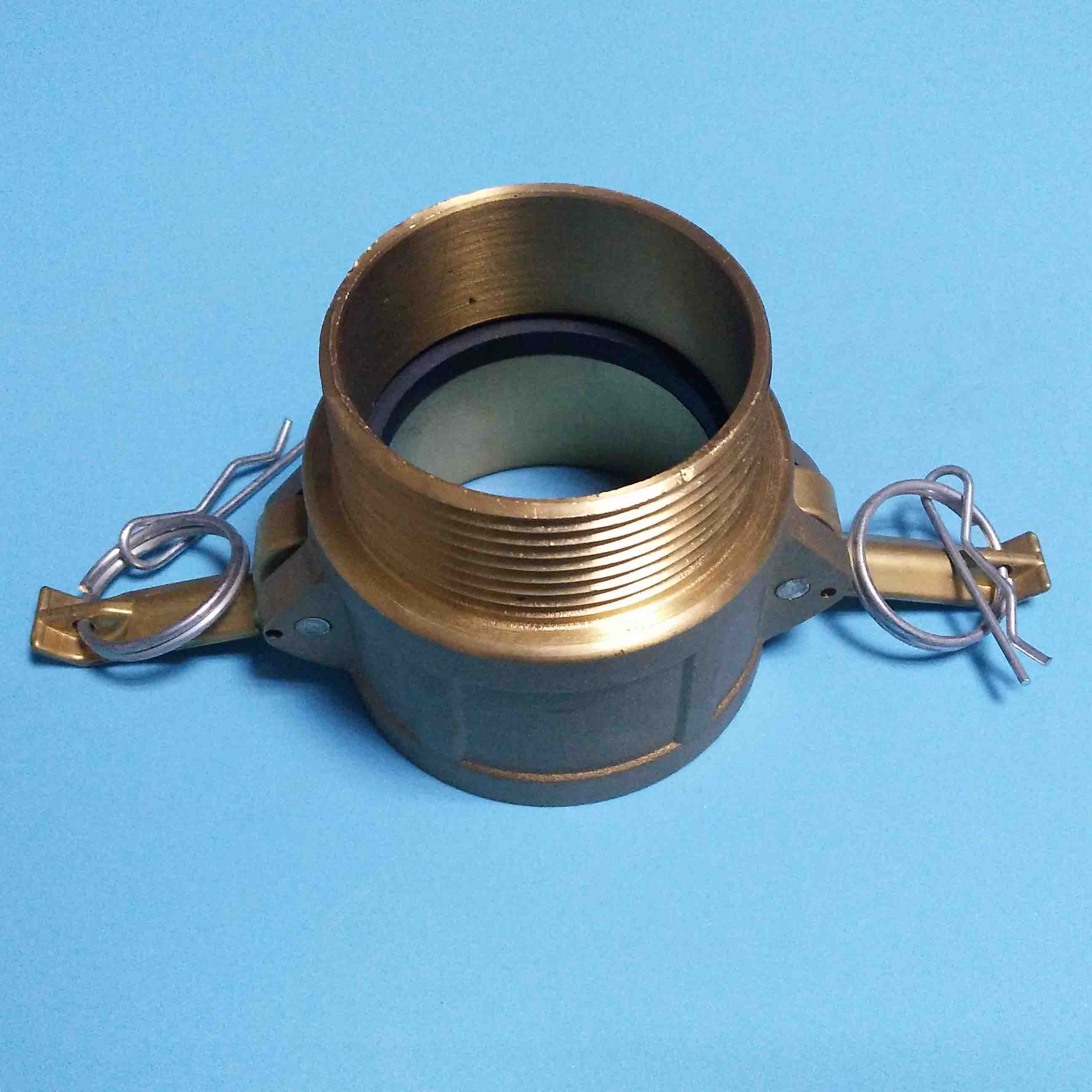 CAM & GROOVE COUPLINGS Type B BRASS-Female Coupler/Male Adapter